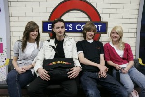 Students on tour in the London Tube